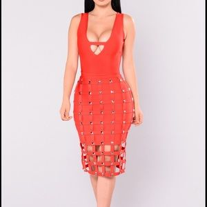 Fashion Nova Stuntin is a Habit Bandage dress